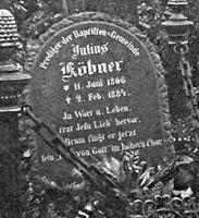 Julius Købners gravsten på Alte Luisenstädtische Friedhof i Berlin