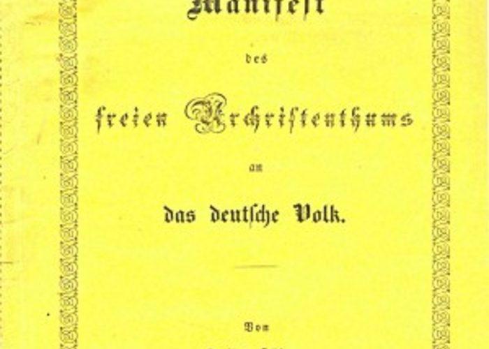 Julius Købner: Manifest til det tyske folk om den frie urkristendom (1848)